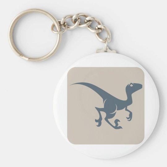 Velociraptor Icon Keychain
