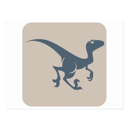 Velociraptor Icon Postcard