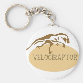 velociraptor basic round Velociraptor Keychain