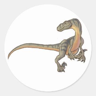 Velociraptor Pegatina Redonda