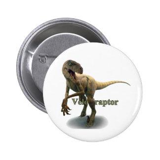 Velociraptor Pin Redondo De 2 Pulgadas