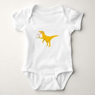 Velociraptor que sostiene un Poptart Mameluco De Bebé