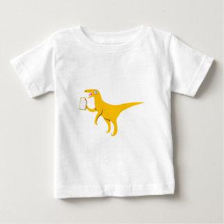 Velociraptor que sostiene un Poptart Poleras