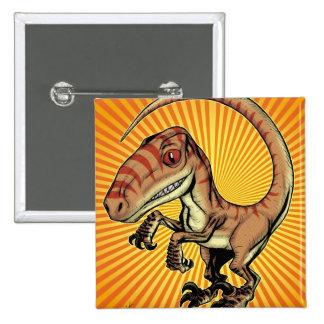 Velociraptor Raptor Dinosaur by Marco D Carillo Buttons