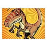 Velociraptor Raptor Dinosaur by Marco D Carillo Invite