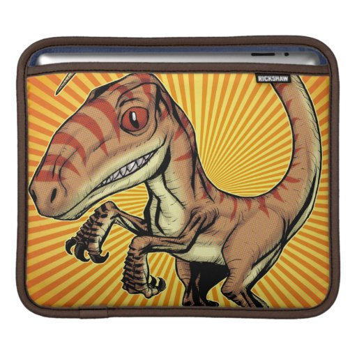 Velociraptor Raptor Dinosaur by Marco D Carillo Sleeve For iPads