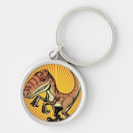 Velociraptor Raptor Dinosaur by Marco D Carillo Keychain