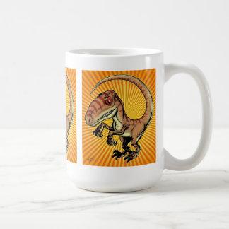 Velociraptor Raptor Dinosaur by Marco D Carillo Classic White Coffee Mug