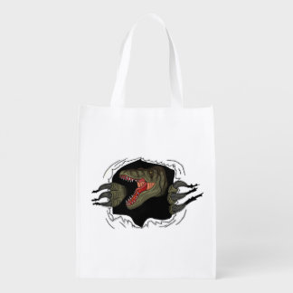 Velociraptor Ripping Through Grocery Bags