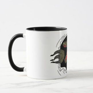 Velociraptor Ripping Through Mug