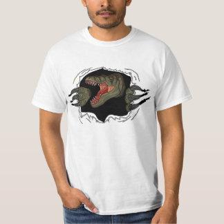 Velociraptor Ripping Through Shirt
