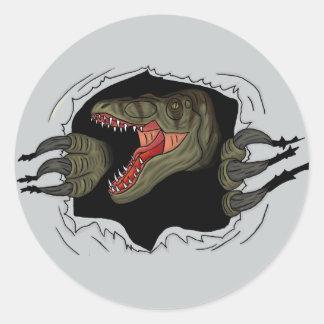 Velociraptor Ripping Through Sticker