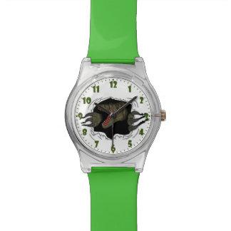 Velociraptor Ripping Through Wrist Watch