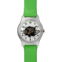 Velociraptor Ripping Through Wristwatch