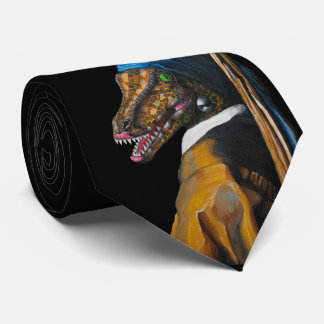 Velociraptor with a Pearl Earring Tie