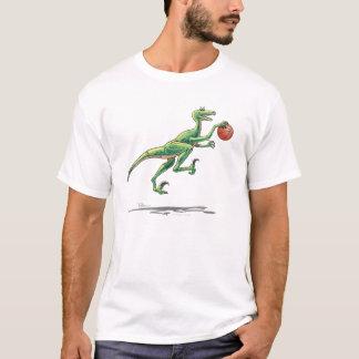 Velociraptor with Basketball T-Shirt