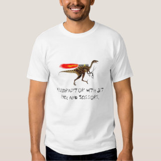Velociraptor with Jet Pack and Scissors T Shirt