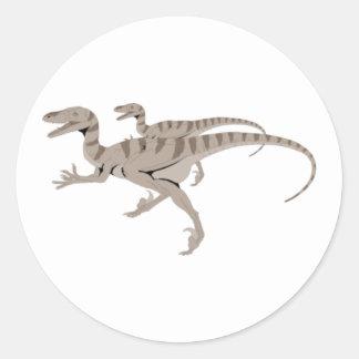 velociraptoren classic round sticker