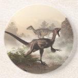 Velociraptors Drink Coaster