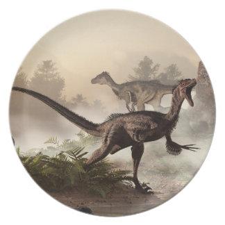Velociraptors Platos Para Fiestas