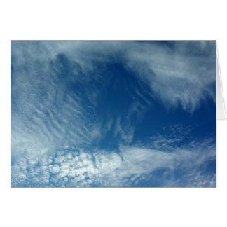 Velos en el cielo tarjeta de felicitación