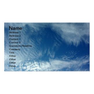 Velos en el cielo tarjetas de visita