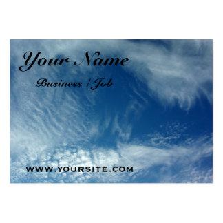 Velos en el cielo tarjetas de visita grandes