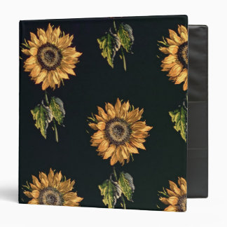 Velours au Sabre silk decoration of Sunflowers Binder