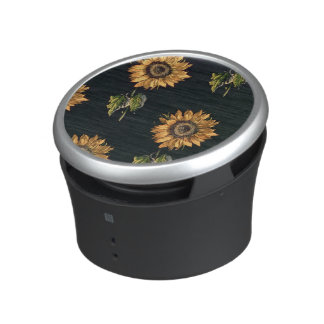Velours au Sabre silk decoration of Sunflowers Bluetooth Speaker