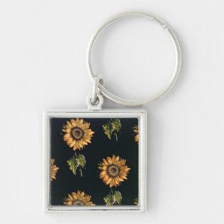 Velours au Sabre silk decoration of Sunflowers Key Chain