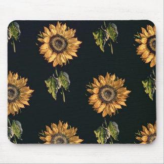 Velours au Sabre silk decoration of Sunflowers Mouse Pad