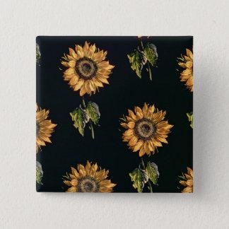 Velours au Sabre silk decoration of Sunflowers Pinback Button