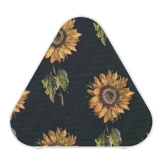 Velours au Sabre silk decoration of Sunflowers Speaker