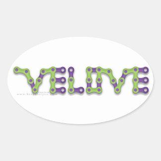 VELOVE oval sticker
