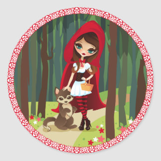 Velusa Red Riding Hood Classic Round Sticker