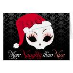 "Velusa Skullie ""More Naughty than Nice"" Card"