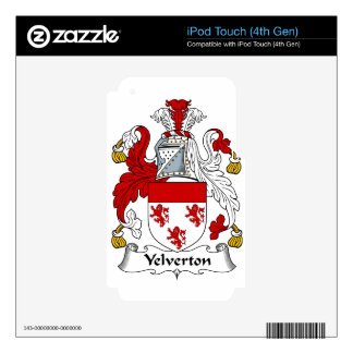 Velverton Family Ancient Coat of Arms Family Crest Skins For iPod Touch 4G