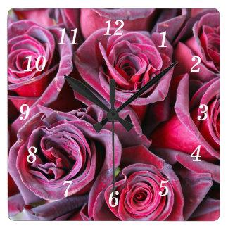 Velvet Beauty Square Wall Clock