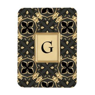 Velvet Black & Gold Magnet