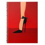 Velvet Black Shoes spiral note book
