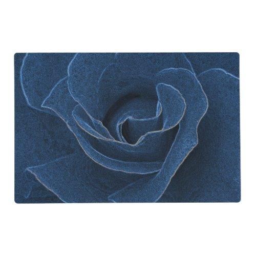 Velvet blue rose placemat