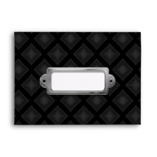 Velvet Diamonds (Charcoal) Envelope