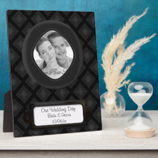 Velvet Diamonds (Charcoal) (Wedding) Plaque