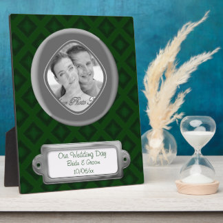 Velvet Diamonds (Green) (Wedding) Plaque