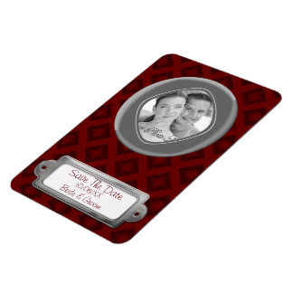Velvet Diamonds (Red) (Save The Date) Magnet