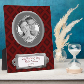 Velvet Diamonds (Red) (Wedding) Plaque