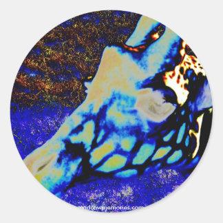 Velvet Giraffe Classic Round Sticker