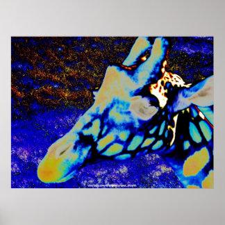 Velvet Giraffe Poster