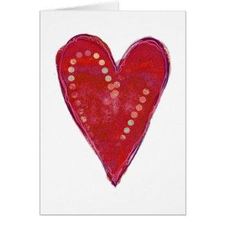 Velvet Heart Valentine Card