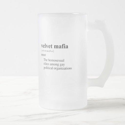 VELVET MAFIA 16 OZ FROSTED GLASS BEER MUG